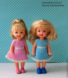 Купить Платья для кукол Келли 10 см - комбинированный, платье, одежда для кукол
