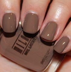 Milani- Teddy brown.      may buy this instead of Essie mink muffs