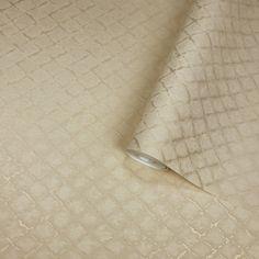 4502-02 Snake Print Textured Gold Diamond Wallpaper