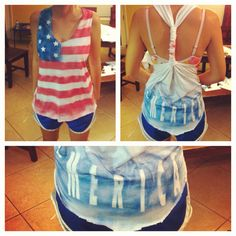4th of July shirt: DIY :) Doing it with my best friend Cheyenne(: