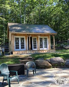 Build a cottage with our DIY plans and color coded kits. Assembly is geared to beginners with an average assemble time for two people is 40 hours. Lean To Shed Plans, Free Shed Plans, One Room Cabins, Cabins In The Woods, 8x10 Shed, Build Your Own Shed, Cabin Kits, Little Cabin, She Sheds