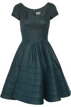 ZacPosen stretch wool blend dress. -perfect fro attending a Fall/Winter wedding with Red Lips of course!