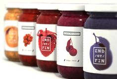 End / or / Fin on Packaging of the World - Creative Package Design Gallery Spices Packaging, Honey Packaging, Fruit Packaging, Food Packaging Design, Bottle Packaging, Brand Packaging, Antipasto, Jam Label, Fruit Logo