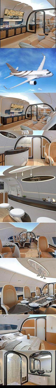 Private Jet ✈️ Interior Panoramic Tour #luxuryprivatejets