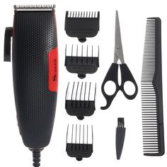 SURKER Eléctrico Cabello Clipper Trimmer Barber Styling herramientas Cutting Tijeras Household Comb Cepillo