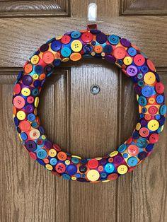 On Wreath Kid S Room Rainbow Multicolor Door Colorful Nursery
