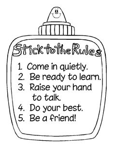 stick to the rules glue chart