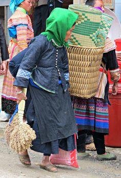 Nung women at Bac Ha Market ~ Vietnam