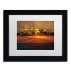 'Mediterranean Sunset' by David Ayash Framed Photographic Print