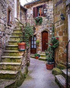 Los rincones de Pitigliano, Italia.