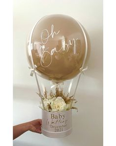Balloon Box, Balloon Gift, Balloon Flowers, Balloon Bouquet, Balloon Arch, Diy Birthday, Birthday Gifts, Bubble Balloons, Bella Rose