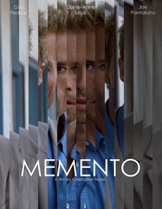 Memento is a great movie about a dude with issues with his memory and trying to piece together the right identity. You will be shocked to find who is the true enemy and suspense will trample over your sweet serenity.