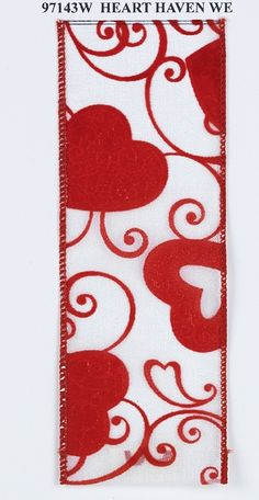Shelley B Home and Holiday - Heart Haven Wired Ribbon, $37.50 (http://shelleybhomeandholiday.com/heart-haven-wired-ribbon/)