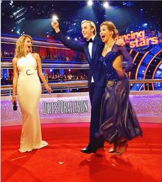 "Dancing With the Stars  -  co-host Erin Andrews with Alison Holker & Riker Lynch  ""TeamRallison""  -  Season 20  -  spring 2015"