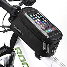 Bicycle Bag Bike Frame Front Tube Beam Bag Transparent PVC Cycling Pannier Pouch Basket for 5.5 inch Mobile Phone Screen touch Holder (Black) - http://www.exercisejoy.com/bicycle-bag-bike-frame-front-tube-beam-bag-transparent-pvc-cycling-pannier-pouch-basket-for-5-5-inch-mobile-phone-screen-touch-holder-black/cycling/