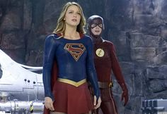 First Look: The Flash Helps Supergirl In 'Worlds Finest'