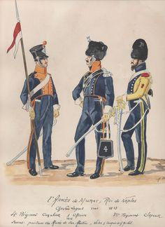l'Armée de Joachim Murat, roi de Naples Chevau-légers 1813 4e Régiment cavalier et officier 1815 3eme Régiment Sapeur