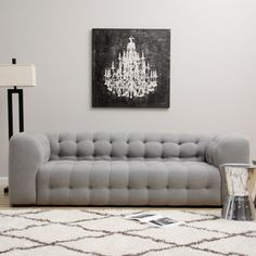 @Overstock.com - Sackville Nova Steel Linen Sofa  - This contemporary Chesterfield-style sofa is covered in a steel-colored linen fabric with a plush boxy design on the surface. Underneath the fabric, polyurethane foam, duck feathers and polyester fiber provide a comfortable softness.  http://www.overstock.com/Home-Garden/Sackville-Nova-Steel-Linen-Sofa/8117563/product.html?CID=214117 $1,459.99