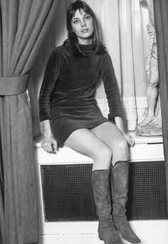Jane Birkin sitting at a window for a publicity photograph, 1968