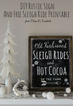 Cute Christmas printable and easy tutorial to turn any printable into your own custom artwork! // cleanandscentsible.com
