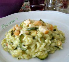 Risotto di zucchine e scamorza