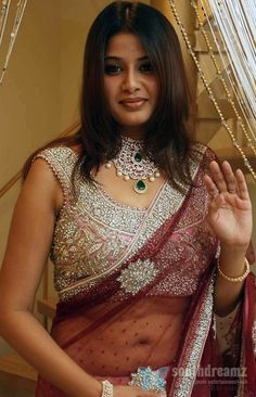 Sangeetha transparent saree Tamil Actresses in Saree