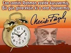 Necip Fazıl Kısakürek Word Sentences, Alarm Clock, Words, Istanbul, Quotes, Life, Wake Up Call, Words Quotes, Alarm Clocks