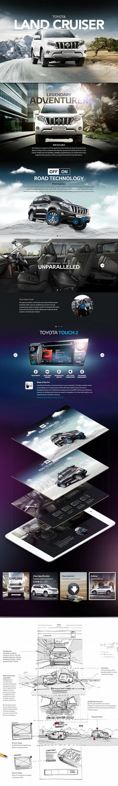 Cool Automotive Web Design. Toyota. #automotive #webdesign [http://www.pinterest.com/alfredchong/] #webdesign #website #inspiration #layout
