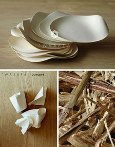 WASARA dinnerware is biodegradable and compostable pieces that delight both our design- & sustainability longings.