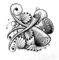 PHICOPS Tangle ||| Zentangle by Alicia Schlitz