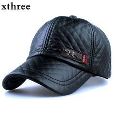 ce677c5d0aa8f 1xthree Nueva moda de alta calidad de cuero de imitación Cap otoño invierno  sombrero casual gorra