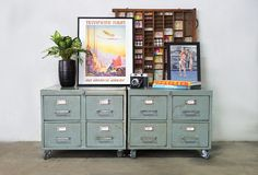 Vintage File Cabinets