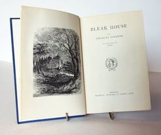 Dickens Bleak House Hardback 1930s vintage Charles Dickens Victorian Book Famous Classic Antique