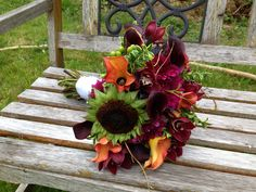 One of the coolest bouquets of the year!