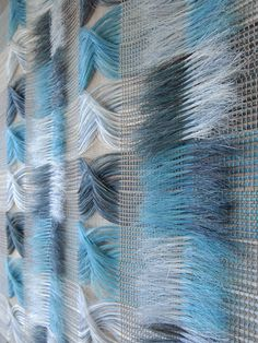 Horse-hair textile weaves by Marianne Kemp of the Netherlands. A link to her site is under Blogroll. | Decanted