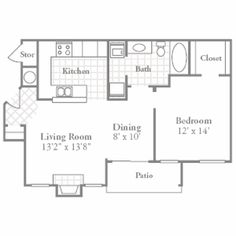 1000 images about small house plans on pinterest one for Gourmet kitchen floor plans