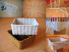 EL MUNDO DEL RECICLAJE: DIY cesto con papel reciclado