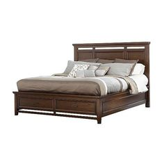 Light Wood Platform Bed With Storage Underneath And Headboard