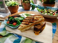 On-the-Grill Grilled Cheese recipe from The Kitchen via Food Network (Season 7/Tackle Your Tailgate)