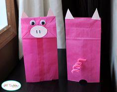 Piggy Puppets (for 3 Little Pigs unit)