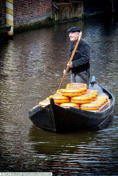 Transporting cheese, Alkmaar, Holland, Netherlands