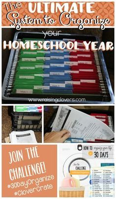 "The Ultimate System to Organize Your Homeschool Year When I first started homeschooling I searched endlessly for the best way to organize all our homeschool ""stuff."" I should have a fancier word for it, like ""materials."" But really, it just felt like a bunch of ""stuff."" Overflowing, overwhelming–STUFF! I'd google ""homeschool organization"" and get pretty pictures of very pretty and organized homeschool rooms. That's not what I wanted. I wanted to know how they organized their stuff. How did…"