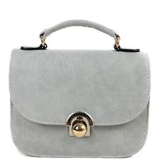 PU Leather Metal Covered Closure Crossbody Bag #CLICK! #clothing, #shoes, #jewelry, #women, #men