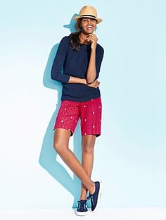 Talbots - Bermuda Shorts - Anchor Print | | Woman Petites Discover your new look at Talbots. Shop our Bermuda Shorts - Anchor Print for stylish clothing and accessories with a modern twist at Talbots