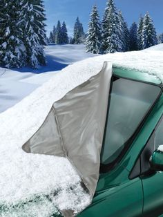 Windshield Snow Cover - Easiest way to get snow and ice off car truck SUV and van windshield | Solutions