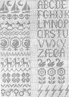 og enda noen til Filet Crochet Charts, Crochet Cross, Knitting Charts, Knitting Stitches, Knitting Designs, Knitting Socks, Knitting Patterns, Cross Stitch Borders, Cross Stitch Patterns