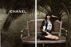 Freja Beha Erichsen by Karl Lagerfeld for Chanel Spring 2011 campaign