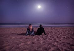 ~ After taking a moonlight walk on the sandy beach....<3 those nights!  Something about the warm glow settling onto the beach, with the lingering sound of the calming waves to your senses...