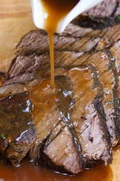 London Broil Slow Cooker, Cooking London Broil, Slow Cooker Roast, Best London Broil Recipe, London Broil Recipes, Cooker Recipes, Crockpot Recipes, Wheat Free Recipes, Crock Pot Cooking