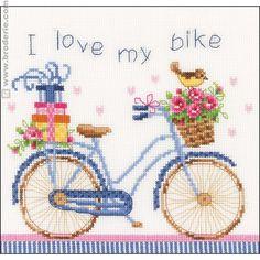 Ricamo Punto Croce Adoro la mia bicicletta  Vervaco  VE.0021778,